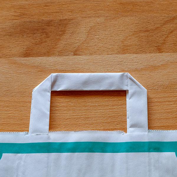 Bolsa papel asa plana