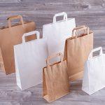 Bolsas de papel con Asa Plana sin impreisón