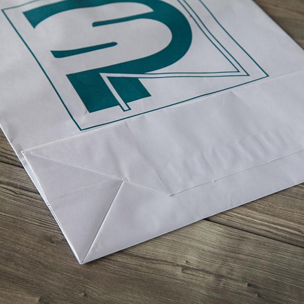 Bolsa papel asa rizada