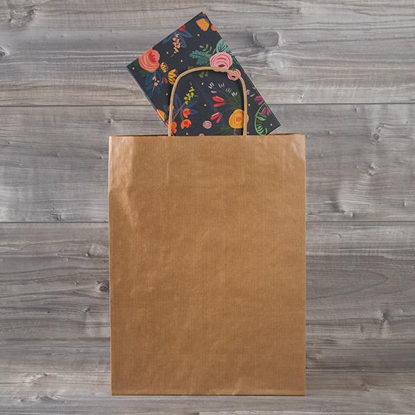 Bolsa de papel asa rizada